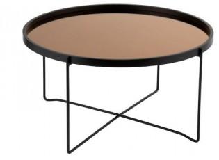 Odkládací kulatý kovový stolek Cofee - Ø74*40cm