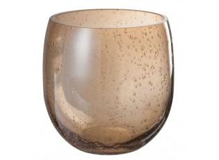 Skleněná dekorační váza Low- Ø 17*27cm