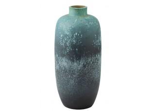 Azurová keramická dekorační váza Vintage - Ø 33*72cm