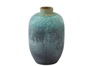 Azurová keramická dekorační váza Vintage - Ø 33*50cm