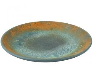 Azurový keramický talíř Vintage - Ø 50*5cm