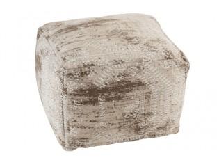 Béžový bavlněný puf Irreg -  60*60*42cm
