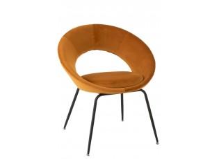 Okrová sametová židle Ohre - 68*51*80cm