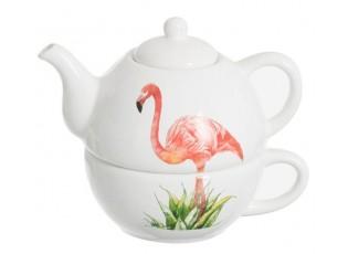 Tea for 1 Flamingo -  17*12*14cm