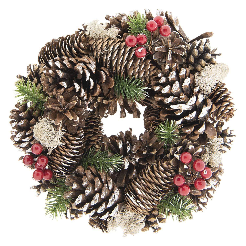 Vánoční věnec se šiškami - Ø 25*8 cm