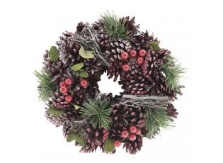 Vánoční věnec se šiškami I - Ø 25*8 cm