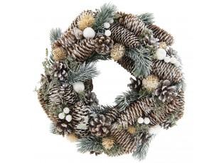 Vánoční věnec se šiškami II - Ø 34*7 cm