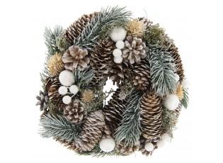 Vánoční věnec se šiškami II - Ø 25*8 cm