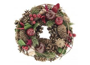 Vánoční věnec se šiškami III - Ø 25*8 cm