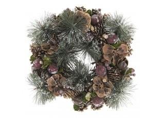 Vánoční věnec se šiškami IV - Ø 33*7 cm