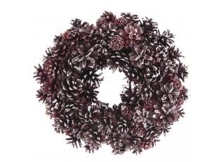 Vánoční věnec se šiškami V - Ø 33*8 cm