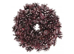 Vánoční věnec se šiškami V - Ø 25*8 cm