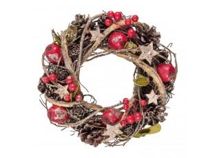 Vánoční věnec se šiškami VI -  Ø 25*9 cm