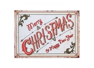 Nástěnná dřevěná cedule Merry Christmas - 30*1*40 cm