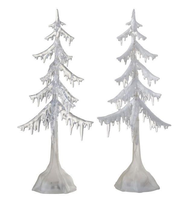 2 svítící vánoní stromky - 14*14*38cm
