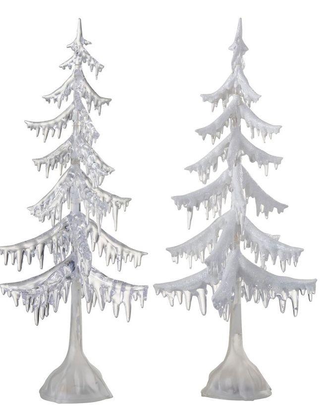 2 svítící vánoční stromky - 24*24*55cm