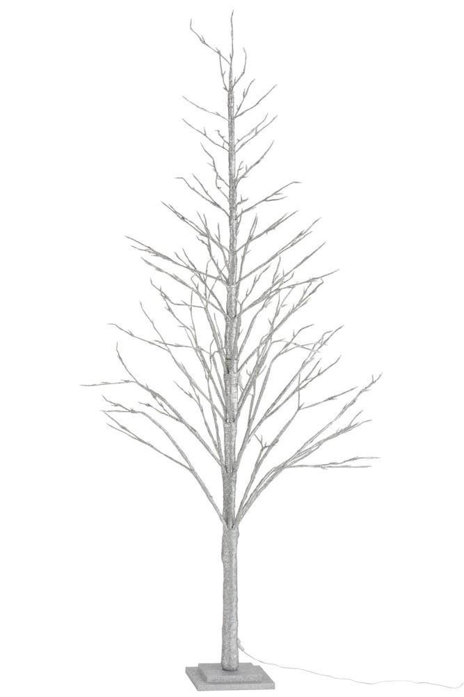 Stříbrný svítící vánoční stromek - 60*60*210cm
