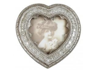 Vintage fotorámeček ve tvaru srdce - 12*12 cm / 9*9 cm