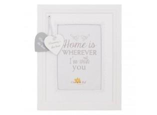 Bílý fotorámeček s věnováním pro maminku - 19*24 cm / 10*15 cm