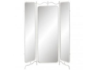 Zrcadlový paravan s bílým rámem - 142*3*174 cm