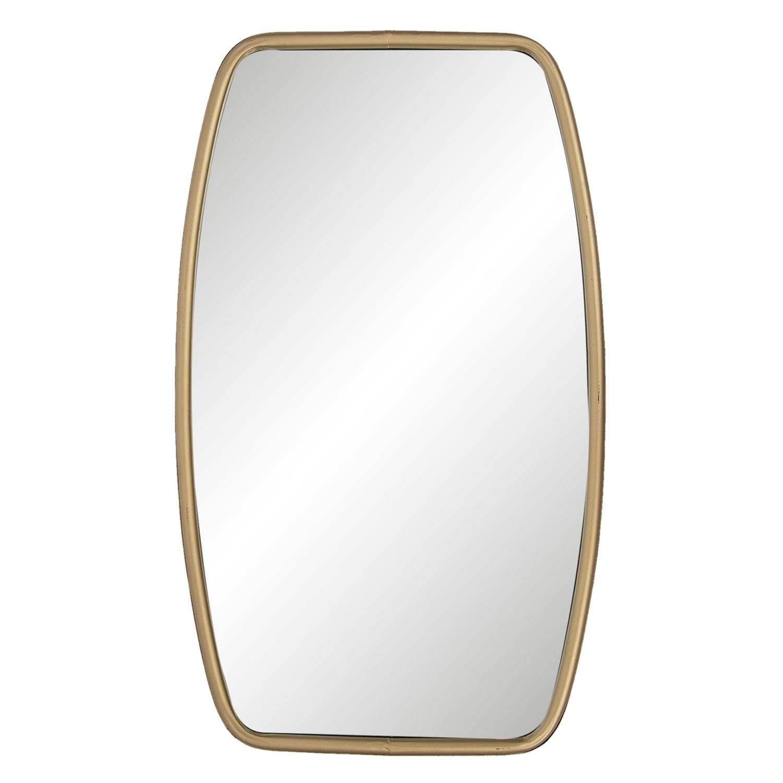 Nástěnné zrcadlo se zlatým rámem - 35*3*60 cm