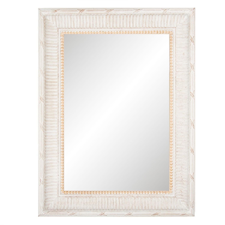 Nástěnné zrcadlo ve zdobeném dřevěném rámu - 60*80*5 cm