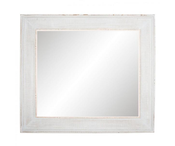 Velké nástěnné zrcadlo v dřevěném rámu s patinou - 80*90*5 cm
