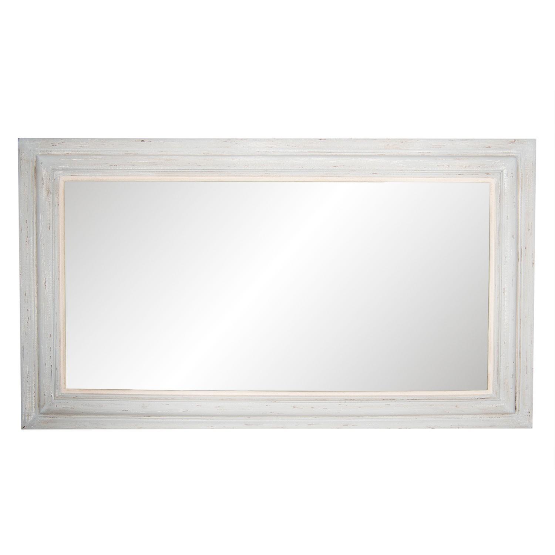 Obdélníkové zrcadlo v dřevěném rámu - 83*143*3 cm