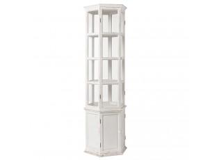 Bílá dřevěná skříň High - 59*51*189 cm