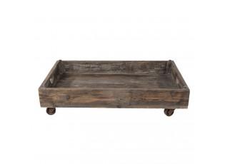 Retro dřevěný podnos na kolečkách - 73*44*16 cm