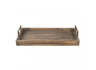 Velký dřevěný podnos Alvery - 63*31*12 cm