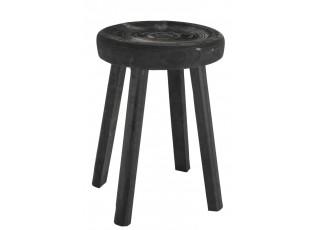 Dřevěná stolička Paulownia černá - Ø 34*44 cm