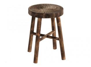 Dřevěná stolička Paulownia hnědá - Ø 35*51 cm