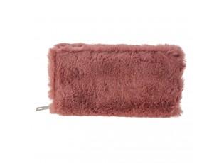 Růžová chlupatá peněženka - 19*10 cm