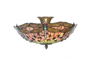 Stropní svítidlo Tiffany Libellule - Ø 40*23 cm 2x E14 / max 40w