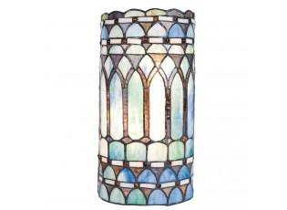 Nástěnné svítidlo Tiffany Bleu - 20*11*36 cm 2x E14 / Max 40W