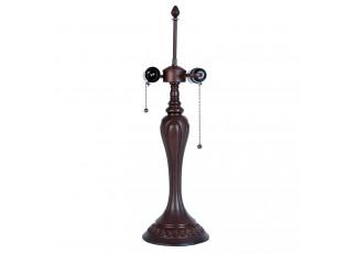 Tmavě hnědá zdobená noha k lampě Tiffany - Ø 17*60 cm / E27/40w