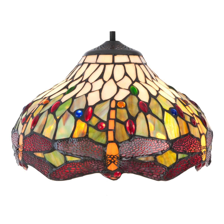 Stínidlo lampy Tiffany Dragonfly - Ø 30*18 cm