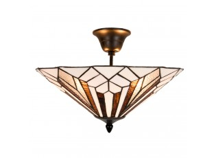 Stropní svítidlo Tiffany Shields - Ø 40*28 cm E14/max. 2x40 Watt