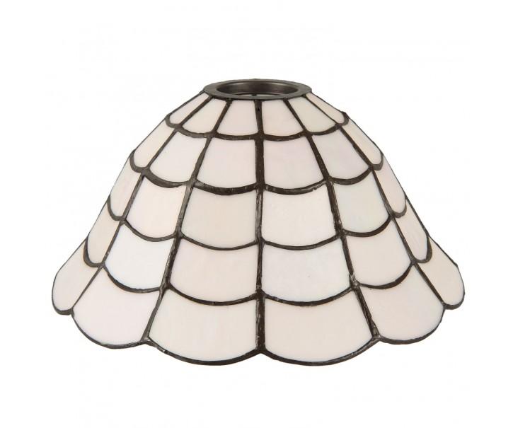 Bílé stínidlo Tiffany - Ø 24*12 cm