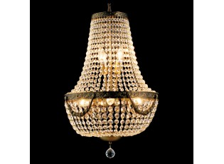 Křišťálový lustr Basile - Ø 40*64/184 cm E14/max 6*40W