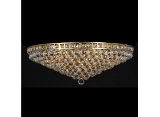 Zlato křišťálový stropní lustr Goldy