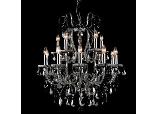 Křišťálový lustr Prisca - 80 * Ø 71 cm 10+5 lichts 15x E14/40w