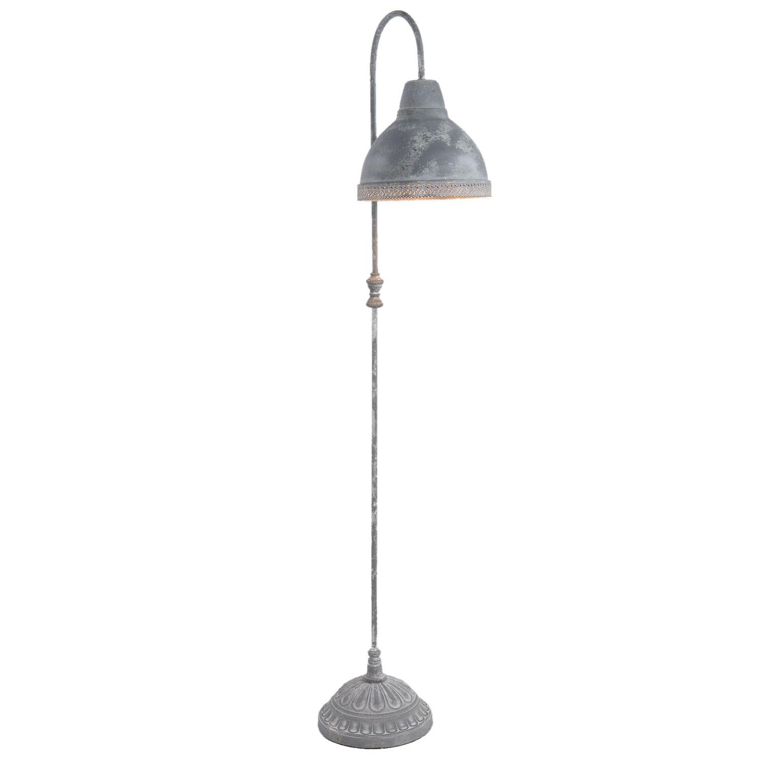 Stojací lampa šedá - 26*33*148 cm / E27/max 1*60W