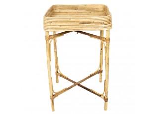 Odkládací stolek z bambusových stonků - 45*45*10/75 cm