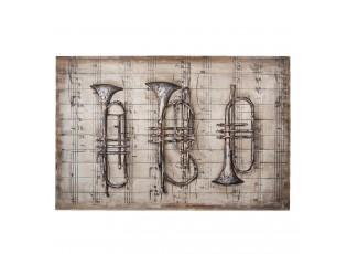 Nástěnný obraz - hudební nástroje - 120*80*6 cm