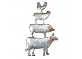 Nástěnná dekorace zvířata - 39*3*67 cm