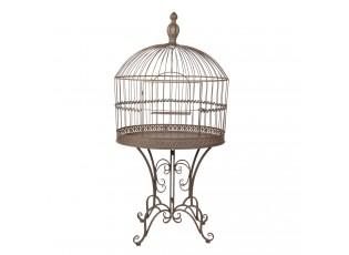 Dekorační kovová ptačí klec na noze - 70*43*142 cm