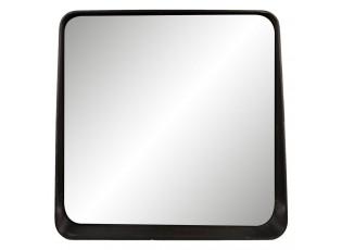 Nástěnné zrcadlo v černém rámu - 53*10*51 cm