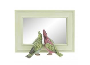 Zrcadlo v rámu s papoušky - 21*7*15 cm